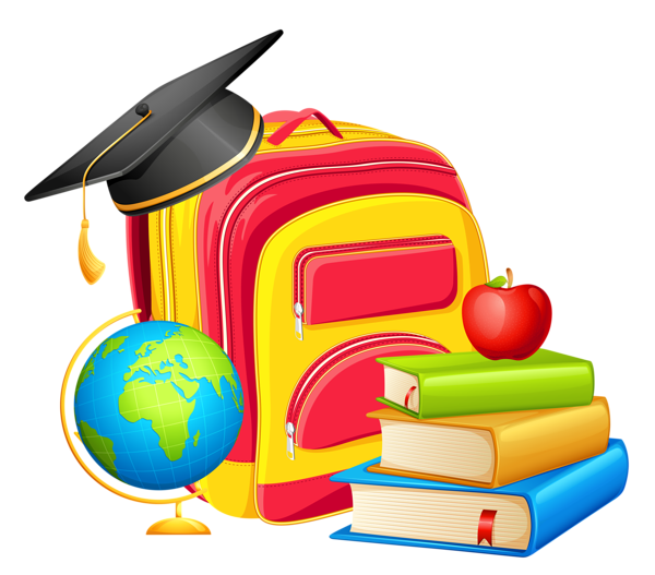 Cool clipart education. School backpack and decorations