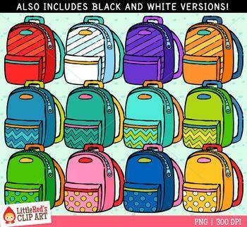 Freebie cute pinterest clip. Backpack clipart color