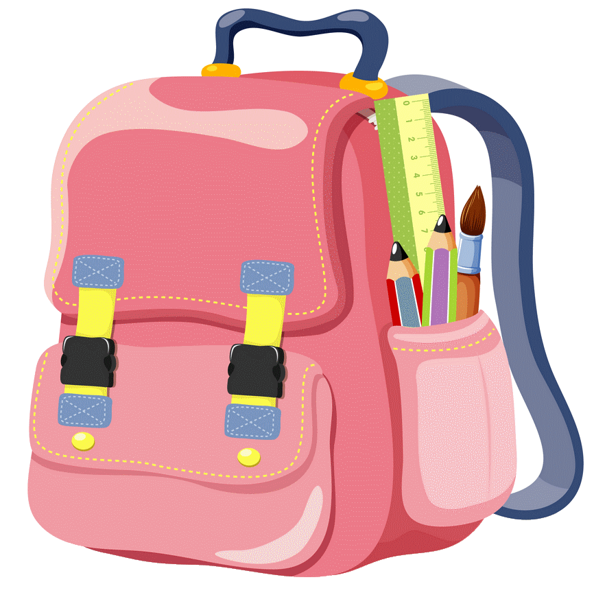 Backpack clipart cute backpack. Clip art schoolbag png