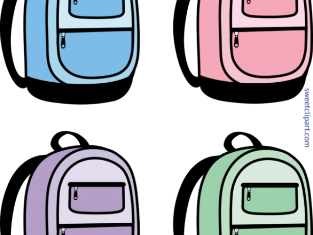 Transparent . Backpack clipart easy