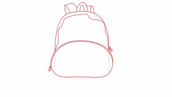 How to draw a. Bag clipart haversack