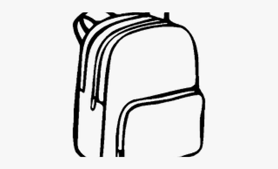 Backpack clipart easy. Drawn bag drawing school