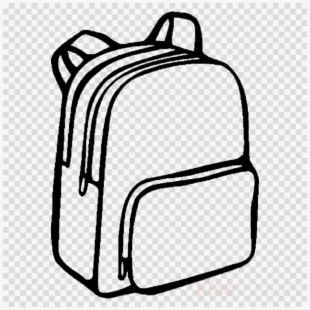 Drawn bag drawing school. Backpack clipart easy