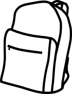 Backpack clipart easy. Best cooler the zone