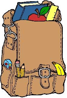 School board has plan. Backpack clipart elementary education