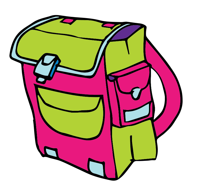 This cartoon school clip. Clipart backpack blue bag