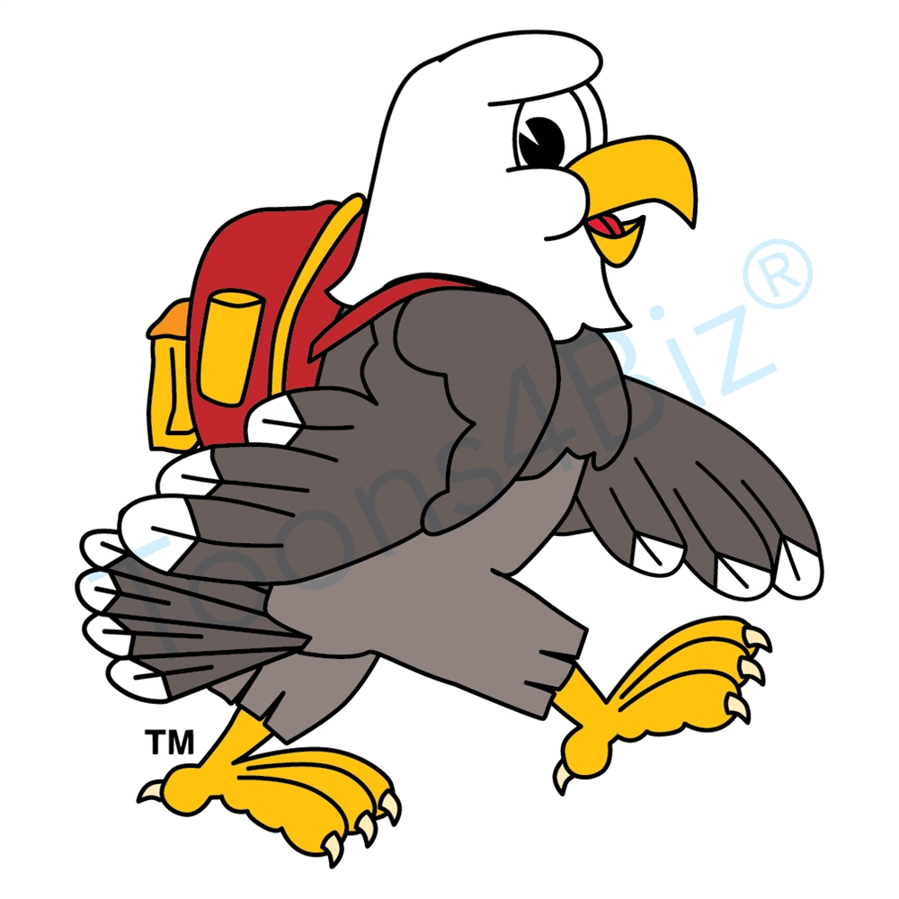 Backpack clipart elementary school. Bald eagle mascot clip