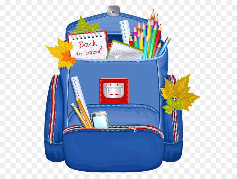 Backpack blue png. Bag clipart clip art school