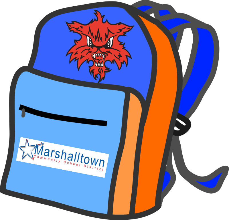 Digital marshalltown . Backpack clipart elementary school