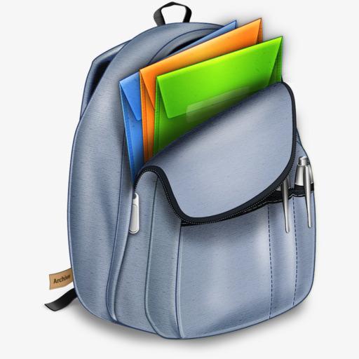 Clipart backpack folder. Hand painted bag school