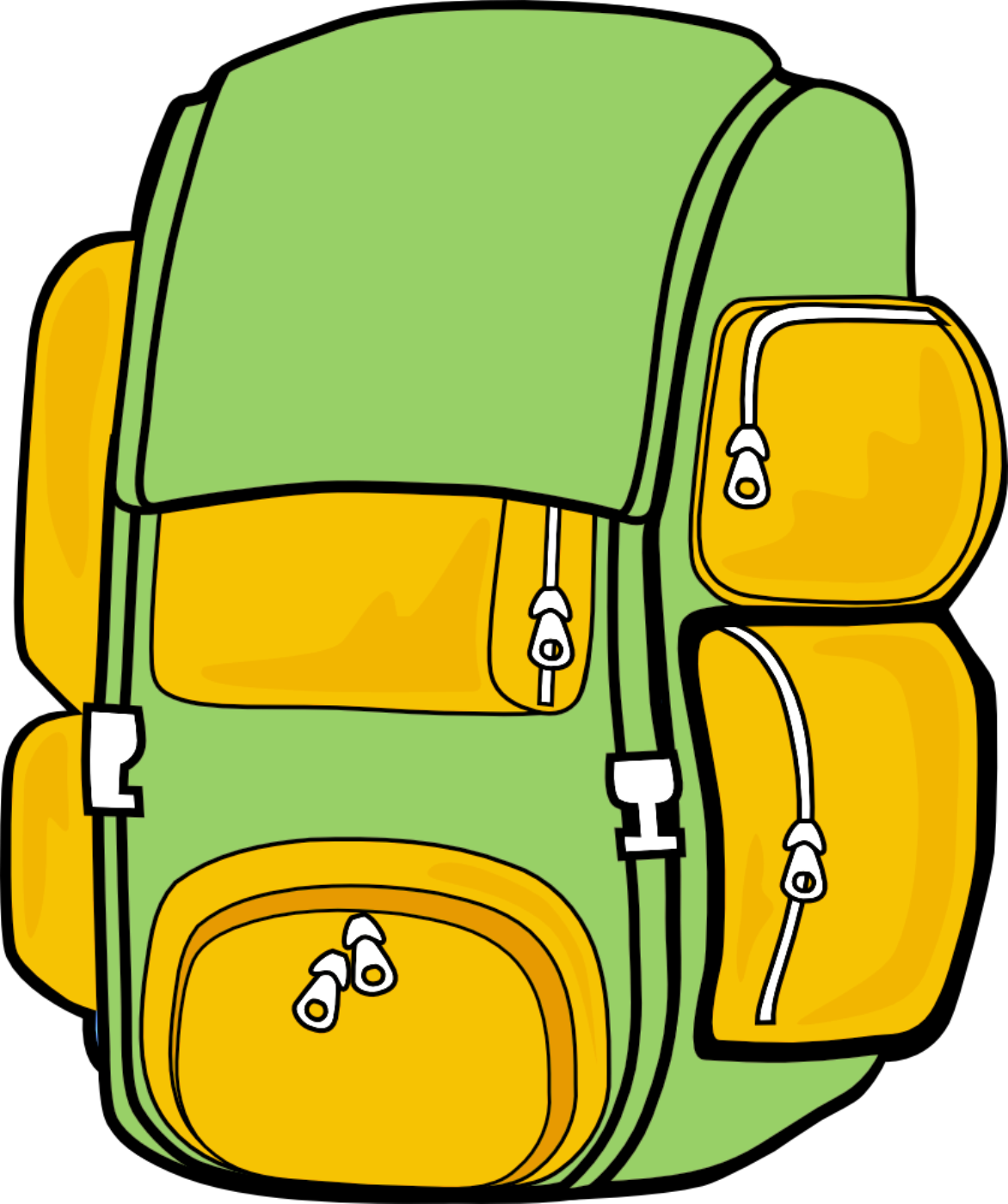Clipart backpack backbag. Beautystars clipartix