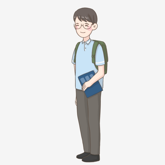Student png with a. Backpack clipart high school