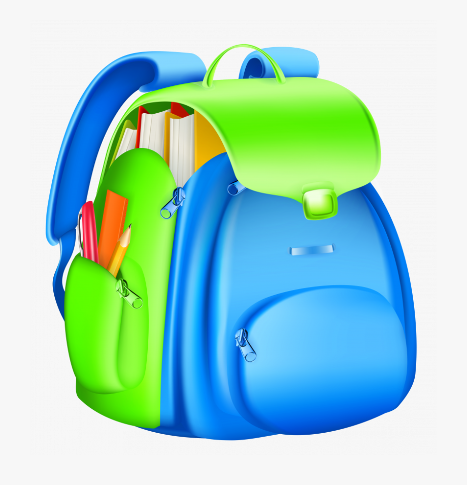 Quality png . Backpack clipart high school