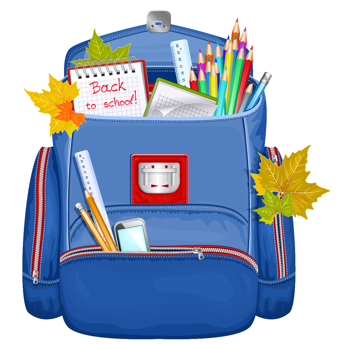 Blue school backpack png. Bag clipart haversack
