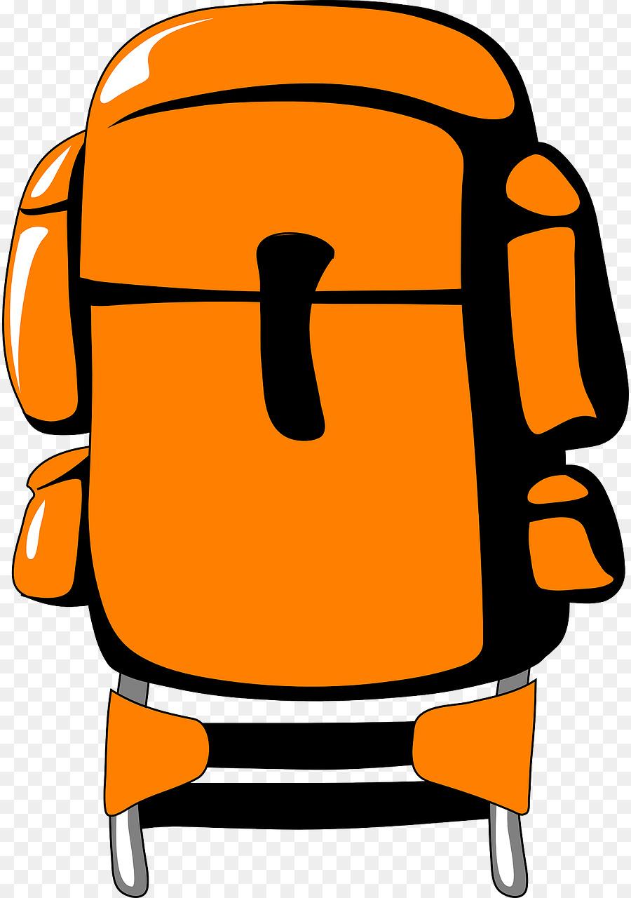 Backpacking clip art orange. Backpack clipart hiking