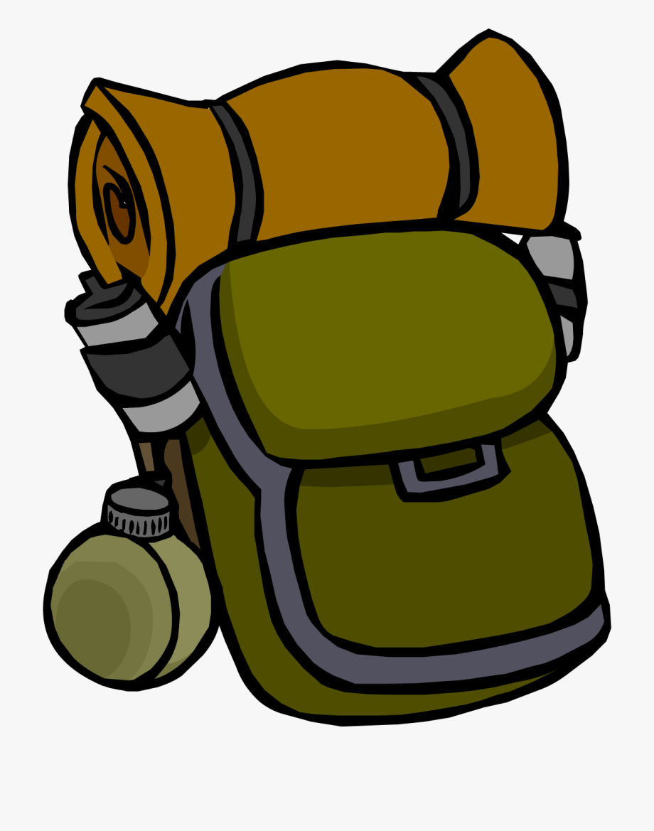 Camping clip art . Backpack clipart hiking