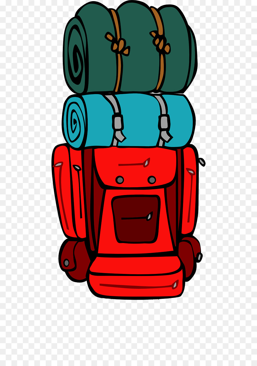 Travel camping . Backpack clipart hiking