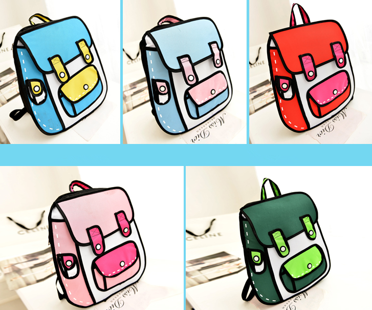 Japanese d canvas asian. Backpack clipart kawaii