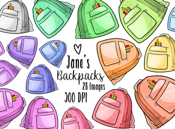 Backpack clipart kawaii. Backpacks by digitalartsi teachers