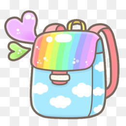 Backpack clipart kawaii. Png and psd free