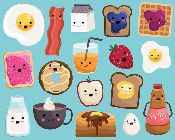 Backpack clipart kawaii. Breakfast food vector png