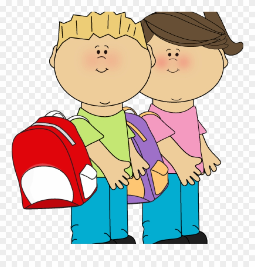 Backpack clipart kid backpack. School children clip art