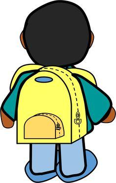 Backpack clipart kid backpack.  al cole terug