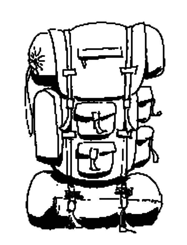 Afbeeldingsresultaat voor hiking items. Backpack clipart line drawing