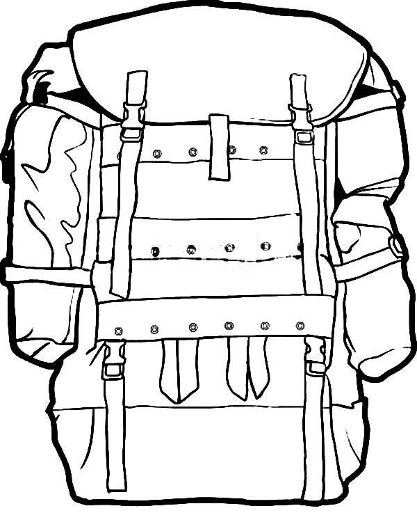 Backpack clipart line drawing. Anime at getdrawings com