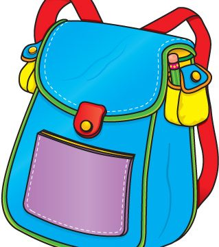 page the la. Backpack clipart lunch