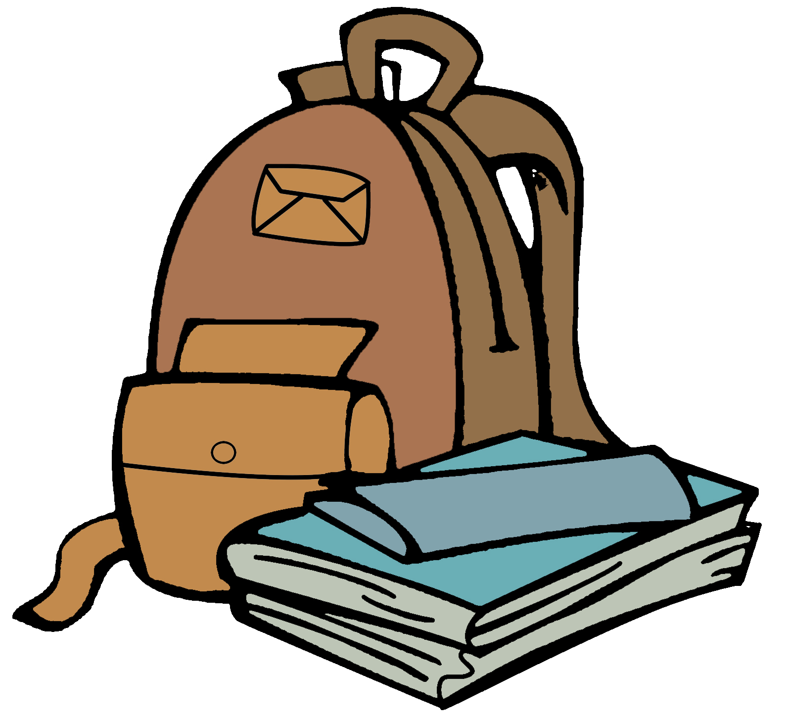 School panda free images. Backpack clipart lunch