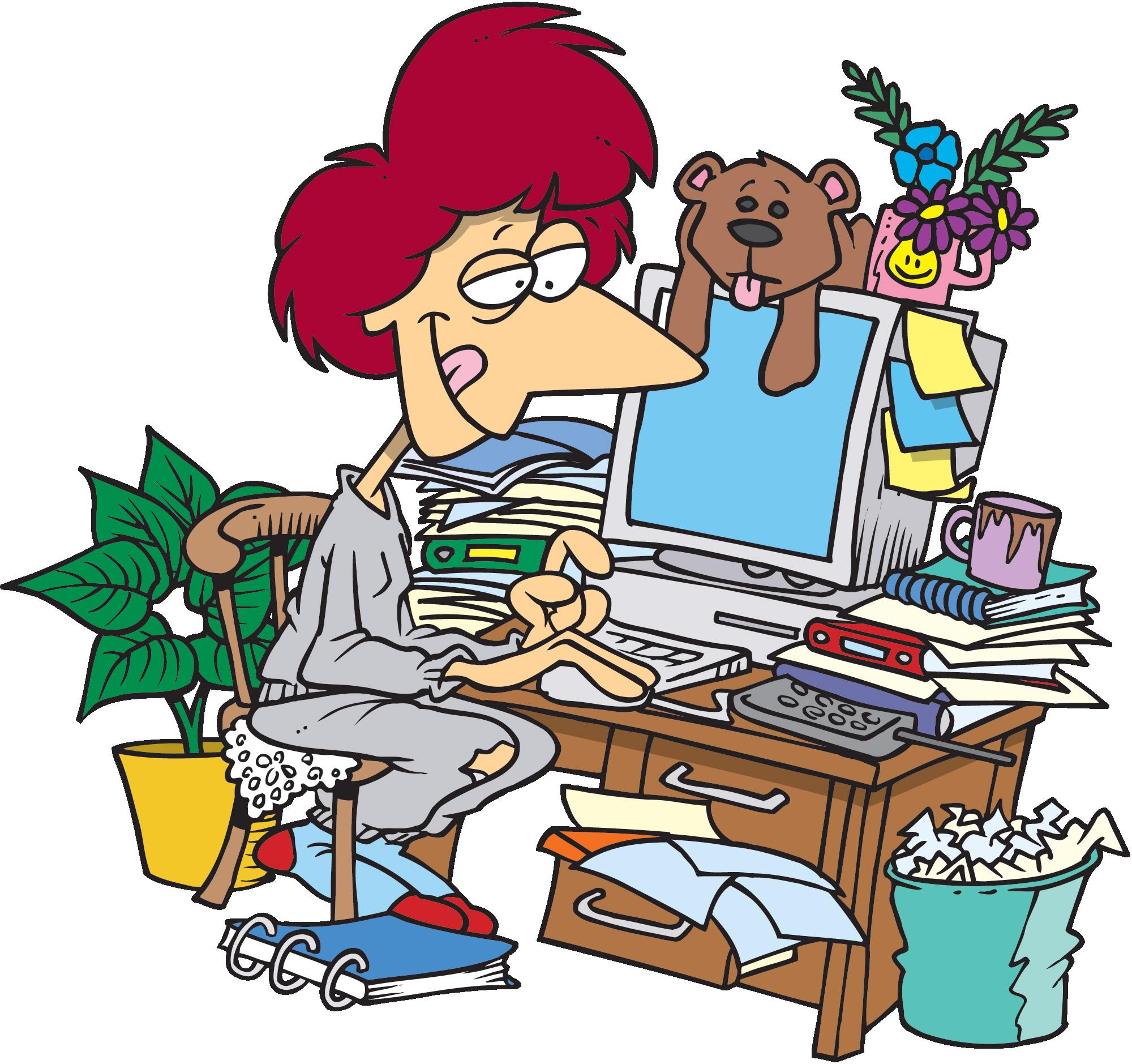 Desk clipart busy desk. Free messy school cliparts