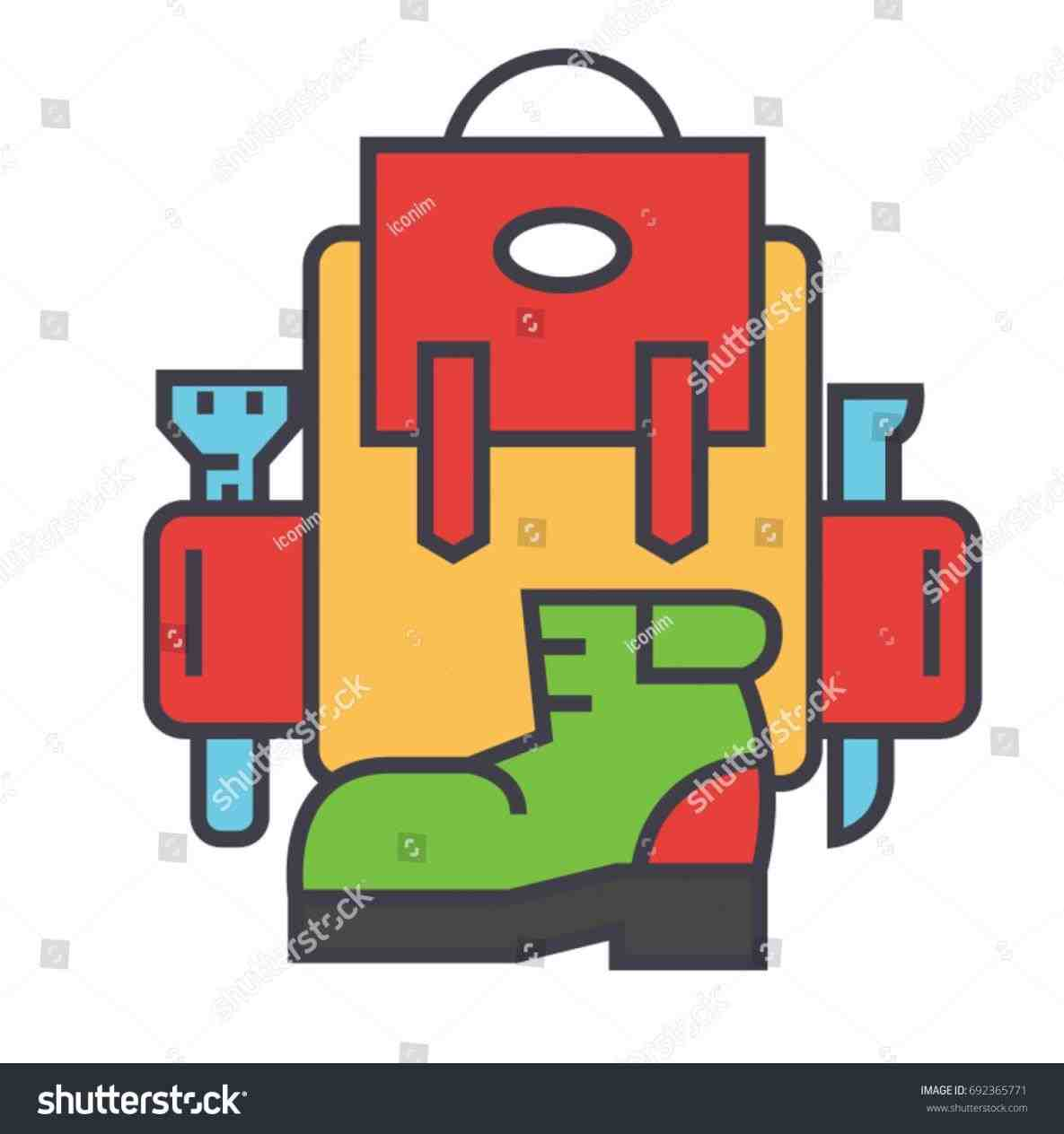 Camping alltripgo awesome camp. Backpack clipart mountain