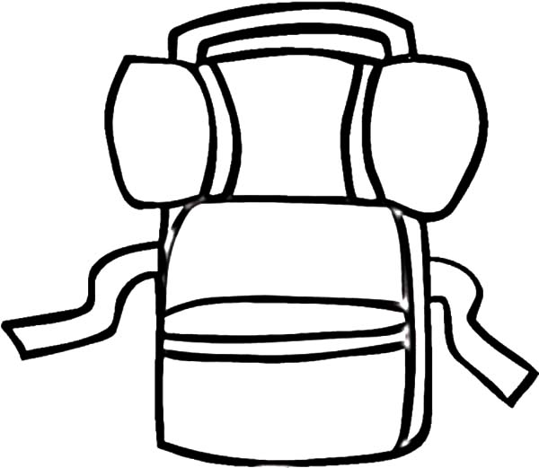 Backpack clipart mountain. Drawing at getdrawings com