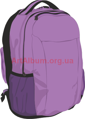 Violet vector artalbum org. Backpack clipart object