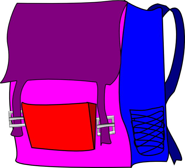 Backpack clipart object. Clip art at clker