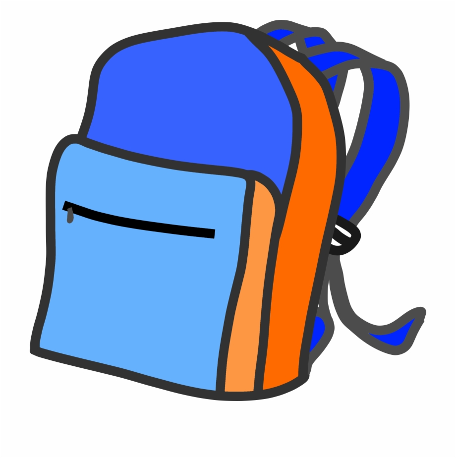 Backpack clipart object. Image transparent background free