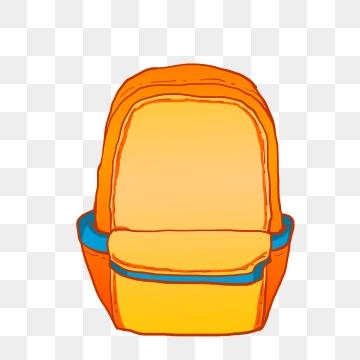School bag png images. Backpack clipart orange backpack