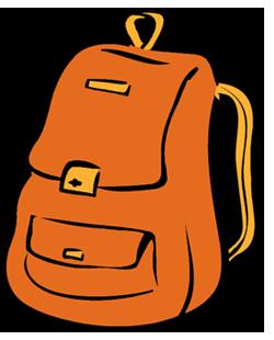 Backpack clipart orange backpack. Virtual belvidere school district