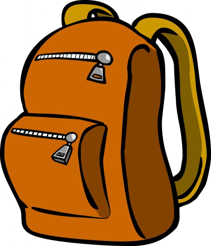 Backpack clipart orange backpack. Wikiclipart