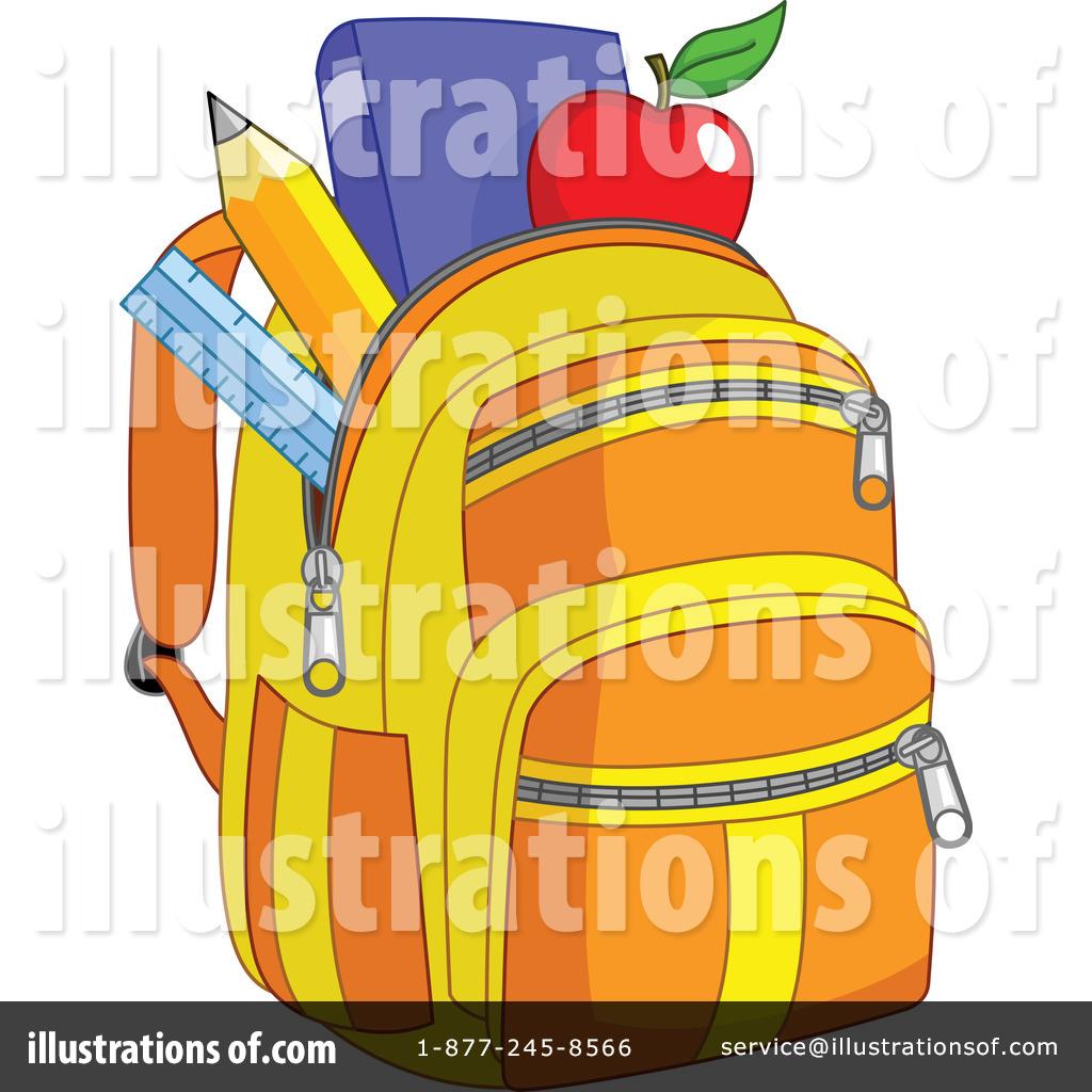 Illustration by yayayoyo royaltyfree. Backpack clipart orange backpack