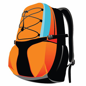 Donate a new or. Backpack clipart orange backpack
