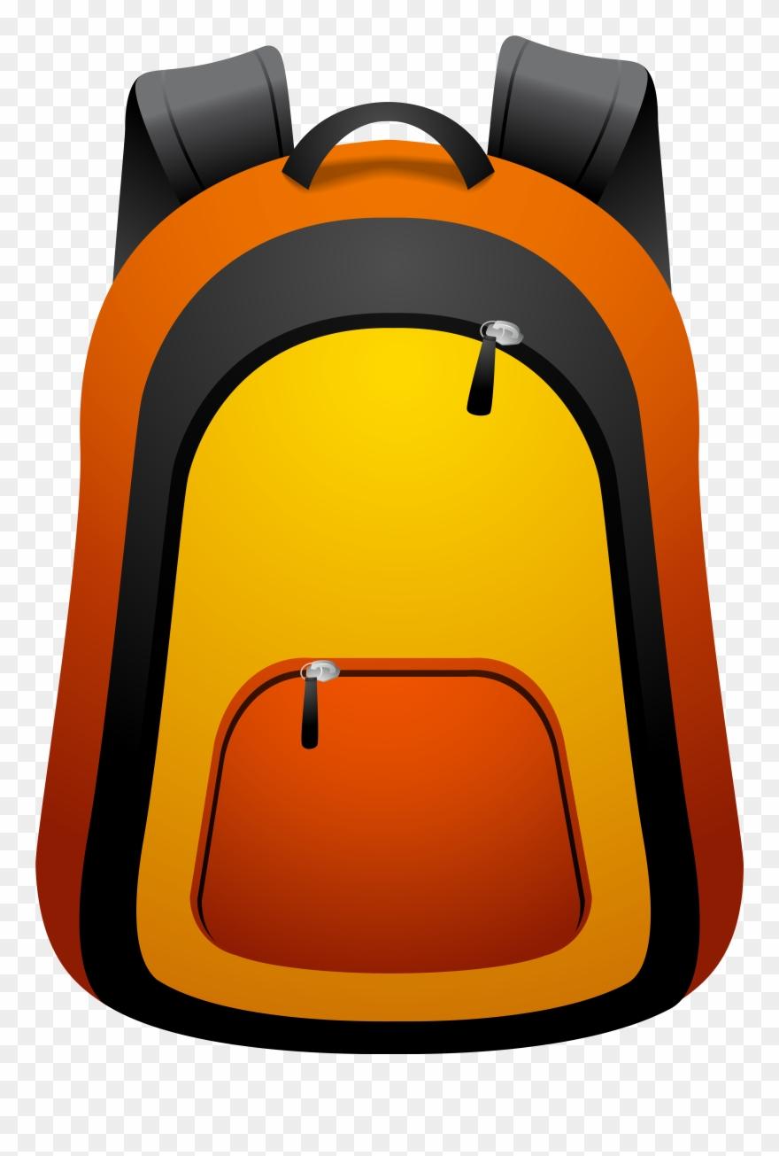 Png imageu b gallery. Backpack clipart orange backpack