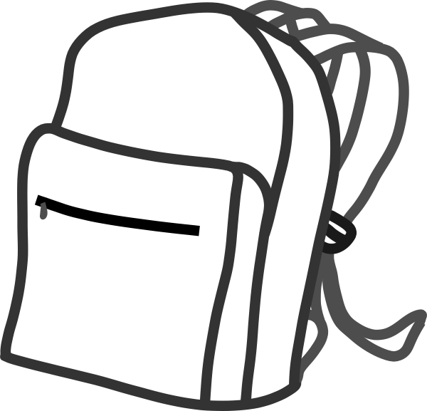 Clip art at clker. Clipart backpack small backpack