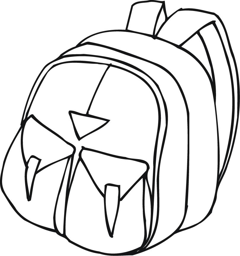 Printable of a with. Backpack clipart outline