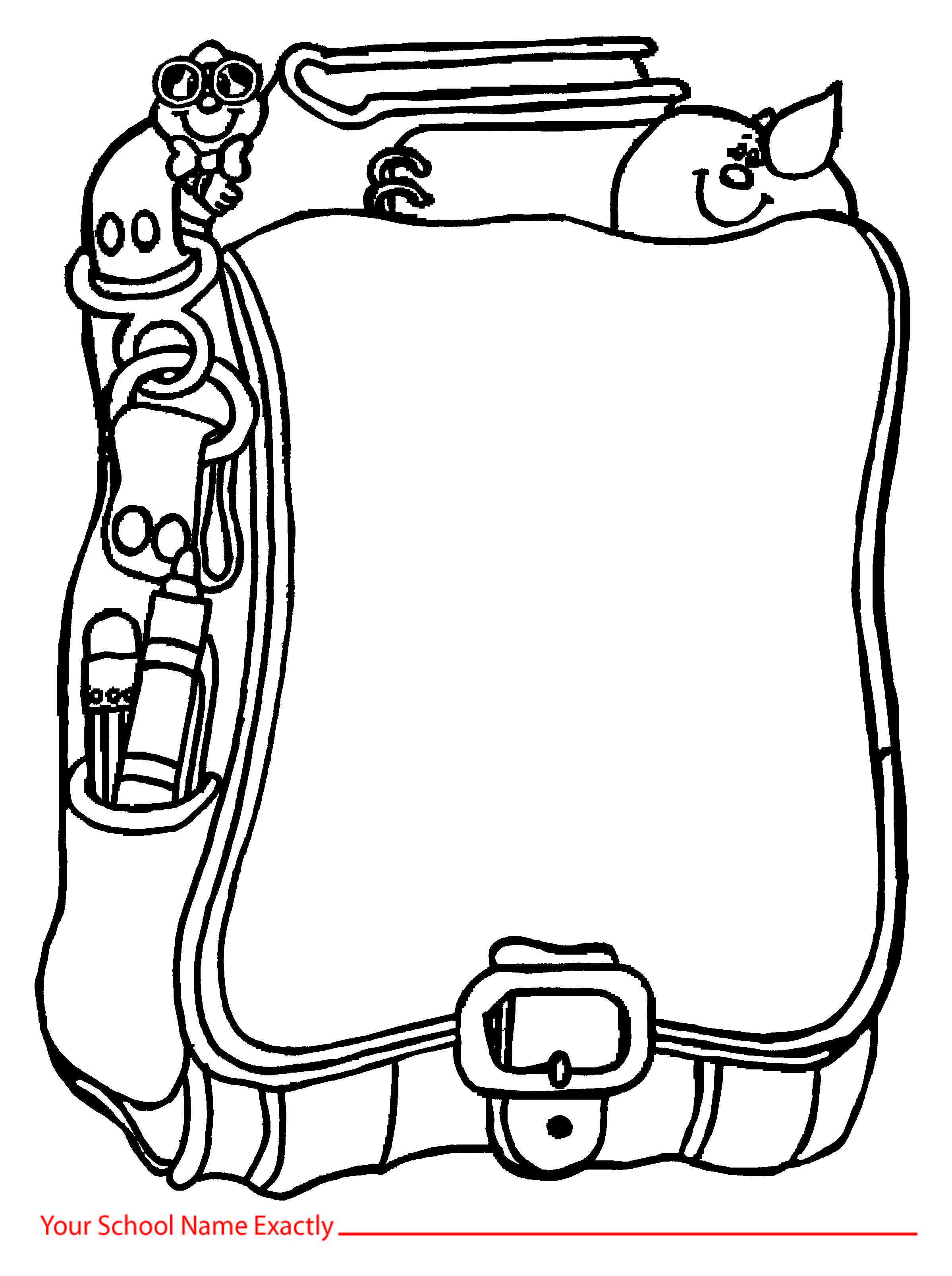 Backpack clipart outline. Free clipartmansion com templates