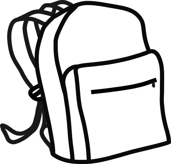 Drawing at getdrawings com. Bookbag clipart outline