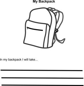 Backpack clipart outline. In my clip art