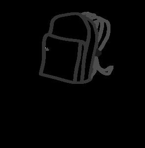 In my clip art. Bookbag clipart empty backpack