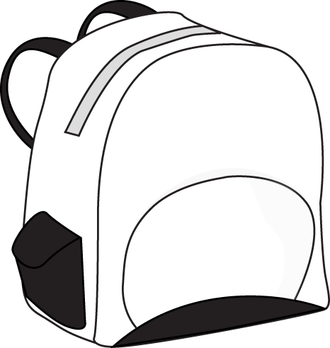 Bookbag clipart black and white. Backpack panda free images